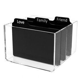 Polaroid PL2X3PSS Clear Acrylic Storage Box with Dividers for Zink 2x3 Photo Paper, Colorful