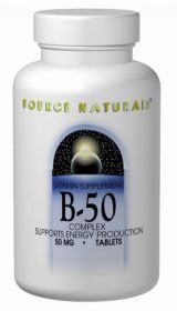Source Naturals Vitamin B-50 Complex 50mg Supports Energy Production - 250 Tablets