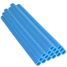 """Upper Bounce 44 Inch Trampoline Pole Foam Sleeves, Fits 1.5"""" Diameter Pole - Set of 16 -Blue"""