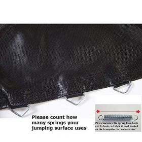 """Jumping Surface for 12' Trampoline with 60 V-Rings for 7"""" Springs"""
