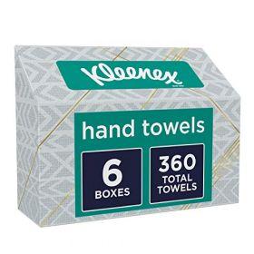 Kleenex Towels, Single-Use Disposable Paper Towels, 6 Boxes, 60 Towels Per Box