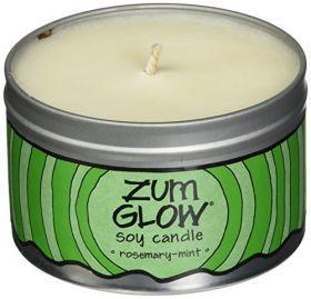 Indigo Wild Zum Glow Soy Candles, Rosemary and Mint