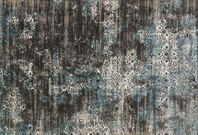 """Loloi KINGSTON Area Rug, 3' 10"""" x 5' 7"""", Charcoal/Blue"""